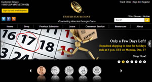 US Mint Website