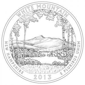 White Mountain National Forest Quarter and Silver Coin Design