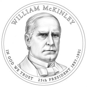 William McKinley Presidential $1 Coin Design