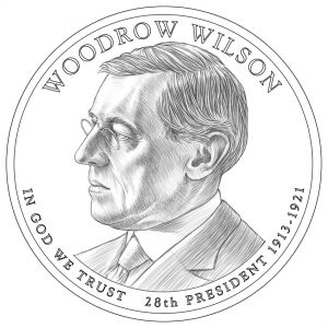 Woodrow Wilson Presidential $1 Coin Design