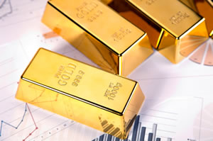 bullion gold bars, charts