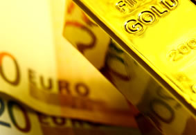 gold and euro notes