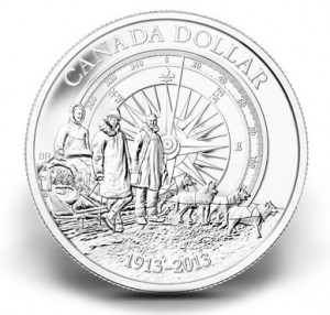 100th Anniversary of the Canadian Arctic Brilliant Silver Dollar
