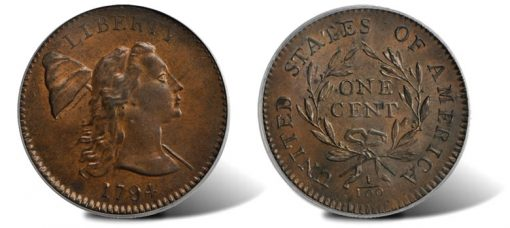 1794 Liberty Cap Cent with the Head of 1793