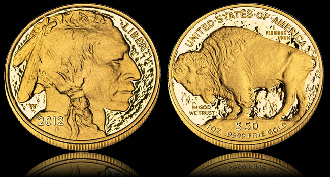 2012-W $50 American Buffalo Gold Proof Coin