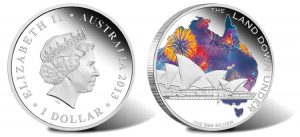 2013 $1 Sydney Opera House Silver Coin from Land Down Under Series