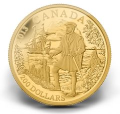 2013 Jacques Cartier Gold Coin