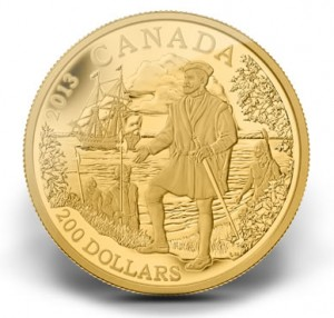 2013 $200 Jacques Cartier Gold Coin