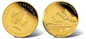 2013 $25 Sydney Opera House Gold Coin from Land Down Under Series