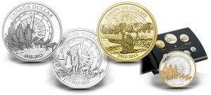 2013 Canadian Arctic Expedition Gold and Silver Commemorative Coins