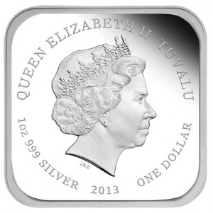2013 City Squares Silver Proof Coin - Obverse