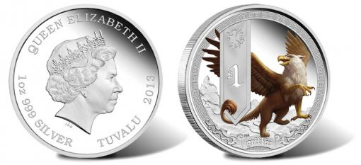 2013 Griffin Silver Proof Coin