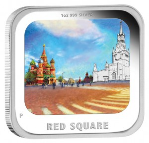 2013 Red Square Silver Proof Coin