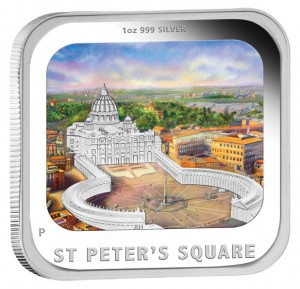 2013 St. Peters Square Silver Proof Coin