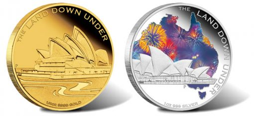 2013 Sydney Opera House Gold and Silver Coins