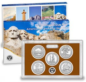 2013 United States Mint America the Beautiful Quarters Proof Set2013 United States Mint America the Beautiful Quarters Proof Set