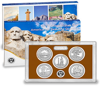 America the Beautiful Quarters Proof Set for 2013