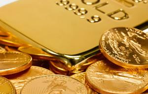 American Eagle gold bullion coins and bullion bar