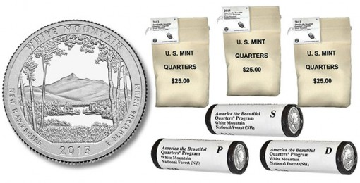 Bags and Rolls of White Mountain National Forest Quarters