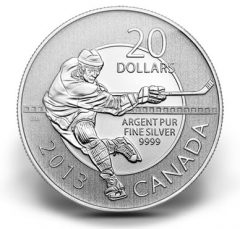 Canadian 2013 $20 Hockey Silver Coin for $20