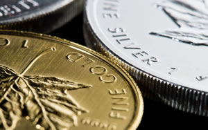Canadian Gold and Silver Maple Leaf bullion coins