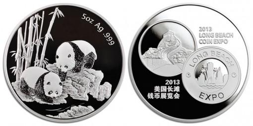 Long Beach 2013 Panda Five Ounce Silver Medal