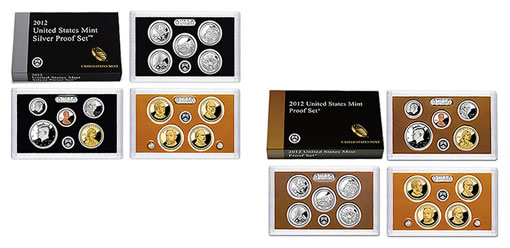 US Mint 2012 Silver Proof Set and Clad 2012 Proof Set
