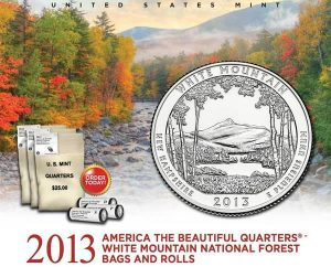 US Mint Promtion Image of White Mountain Quarter Products