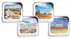 World Famous Squares in Four-Coin Silver Proof Set