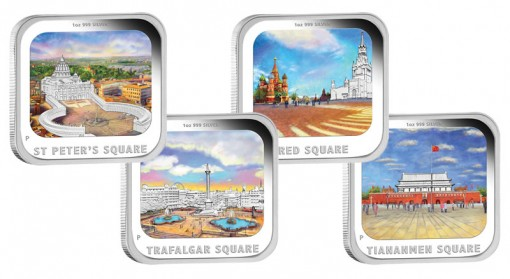 World Famous City Squares Silver Proof Coins