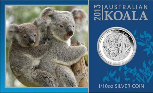 2013 Australian Koala One-Tenth Ounce Silver Coin in Presentation Card