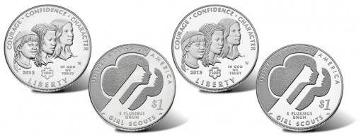 2013 Girl Scouts of USA Silver Dollars