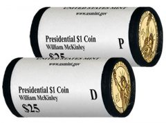 2013 P&D William McKinley Presidential $1 Coins in Rolls