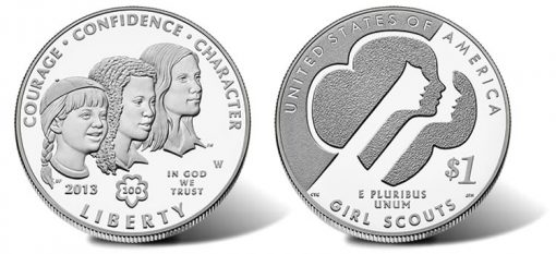 2013-W Proof Girl Scouts of the USA Centennial Silver Dollar