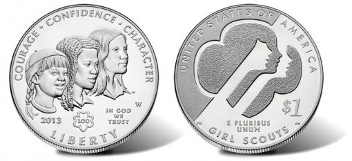 2013-W Uncirculated Girl Scouts of the USA Centennial Silver Dollar