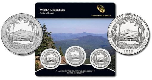 2013 White Mountain National Forest Quarters Three-Coin Set