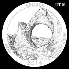 Arches National Park - Quarter and Coin Design Candidate UT-01
