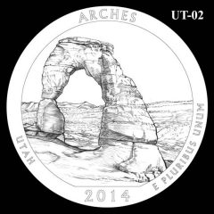 Arches National Park - Quarter and Coin Design Candidate UT-02