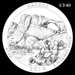 Arches National Park - Quarter and Coin Design Candidate UT-03