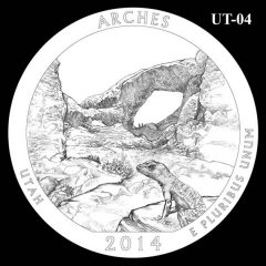 Arches National Park - Quarter and Coin Design Candidate UT-04