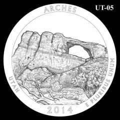Arches National Park - Quarter and Coin Design Candidate UT-05