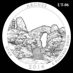 Arches National Park - Quarter and Coin Design Candidate UT-06