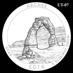 Arches National Park - Quarter and Coin Design Candidate UT-07