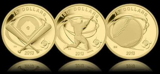 Canadian 2013 World Baseball Classic Gold Commemorative Coins