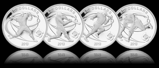 Canadian 2013 World Baseball Classic Silver Commemorative Coins