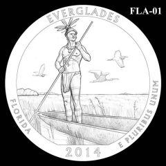 Everglades National Park - Quarter and Coin Design Candidate FLA-01