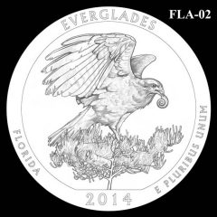 Everglades National Park - Quarter and Coin Design Candidate FLA-02