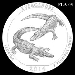Everglades National Park - Quarter and Coin Design Candidate FLA-03