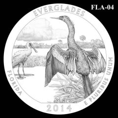 Everglades National Park - Quarter and Coin Design Candidate FLA-04