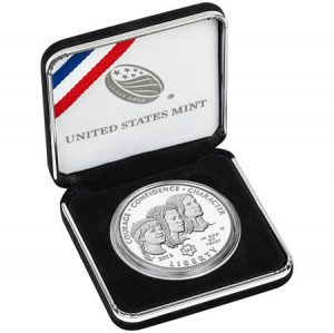 Girl Scouts Silver Dollar in U.S. Mint Presentation Case